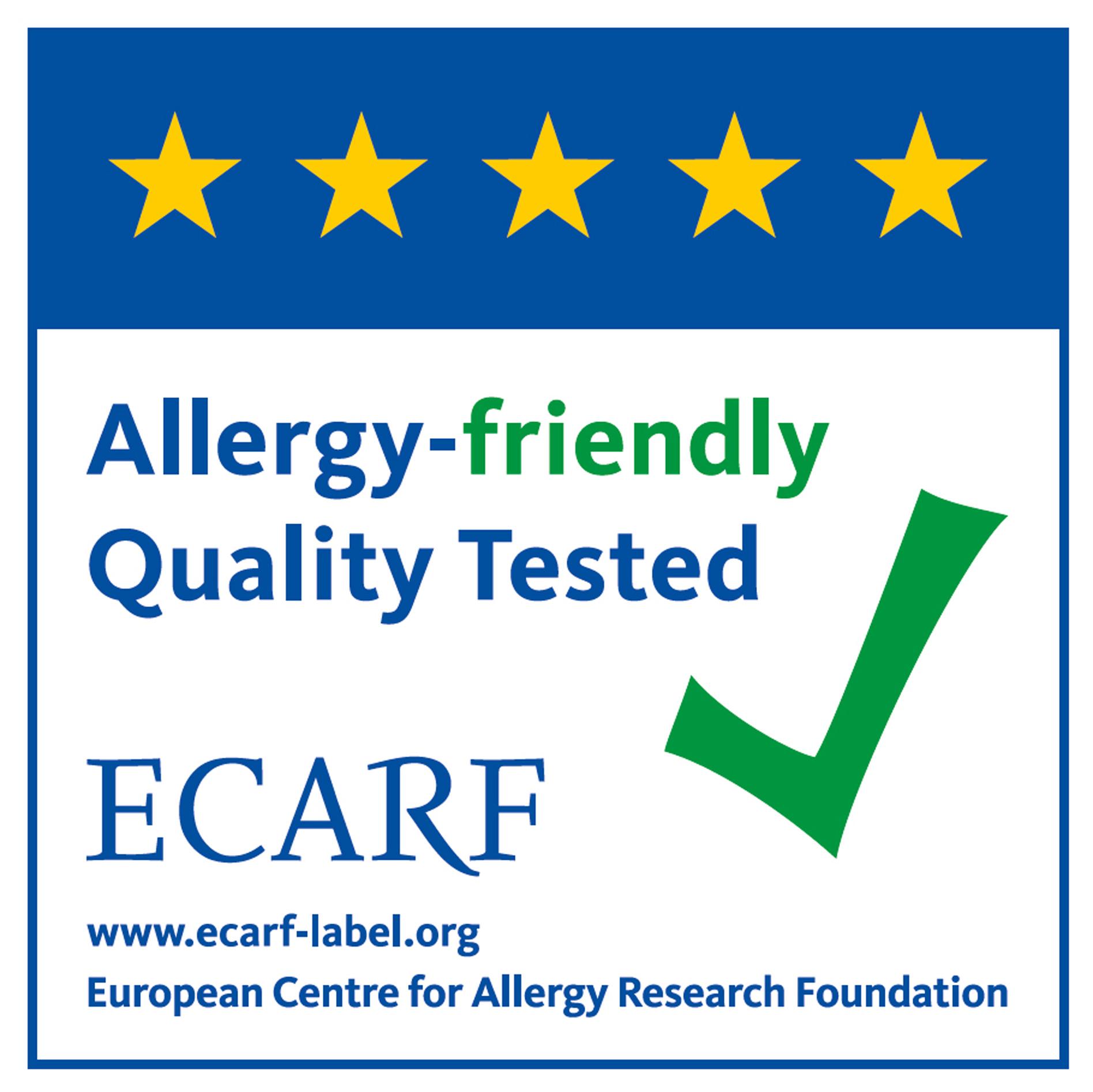 ECARF heeft de U300 gecertificeerd.